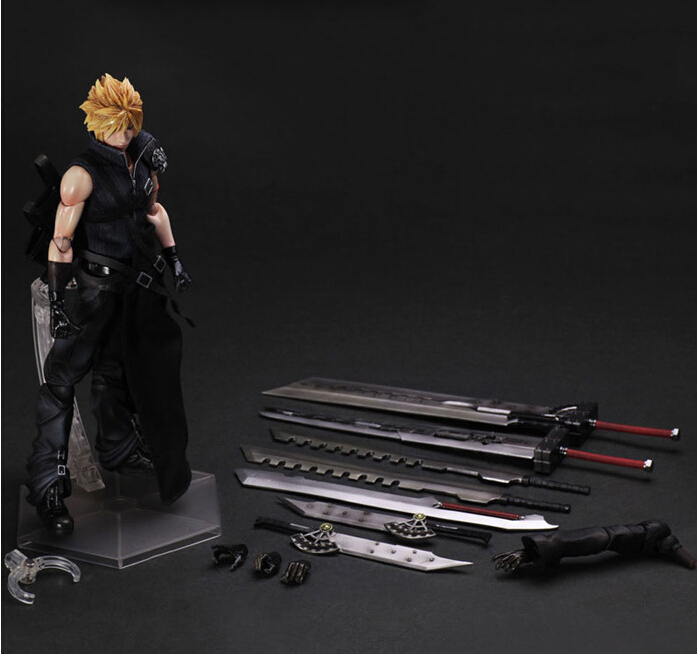 Final Fantasy Action Figure Play Arts Kai Cloud Strife Anime Collection Model Toys 270MM Final Fantasy Playarts final arts model motor collection rare one