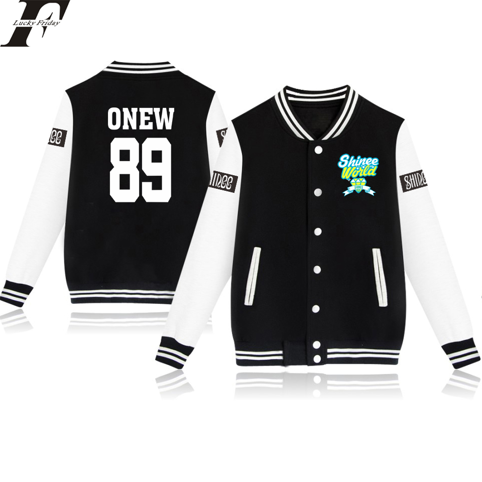 LUCKYFRIFAYF 2017 SHINee Jonghyun R.I.P Kpop Baseball Jacket Women/Men Outwear Coat Kpop Winter Jacket Women Long Streetwear