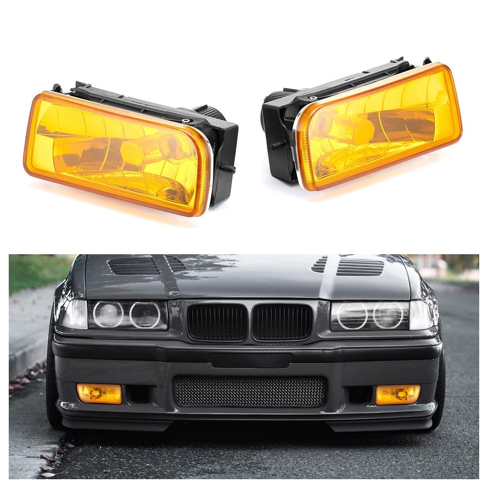 2 Pieces Car Fog Lights For BMW E36 1992 1993 1994 1995 1996 1997 1998 Auto Fog Lamp Car Accessories Car Styling