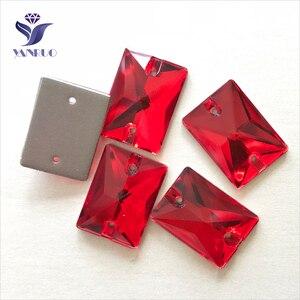 Image 1 - Прямоугольные Стеклянные стразы YANRUO, для шитья обуви, все размеры Lt.Siam, 3250