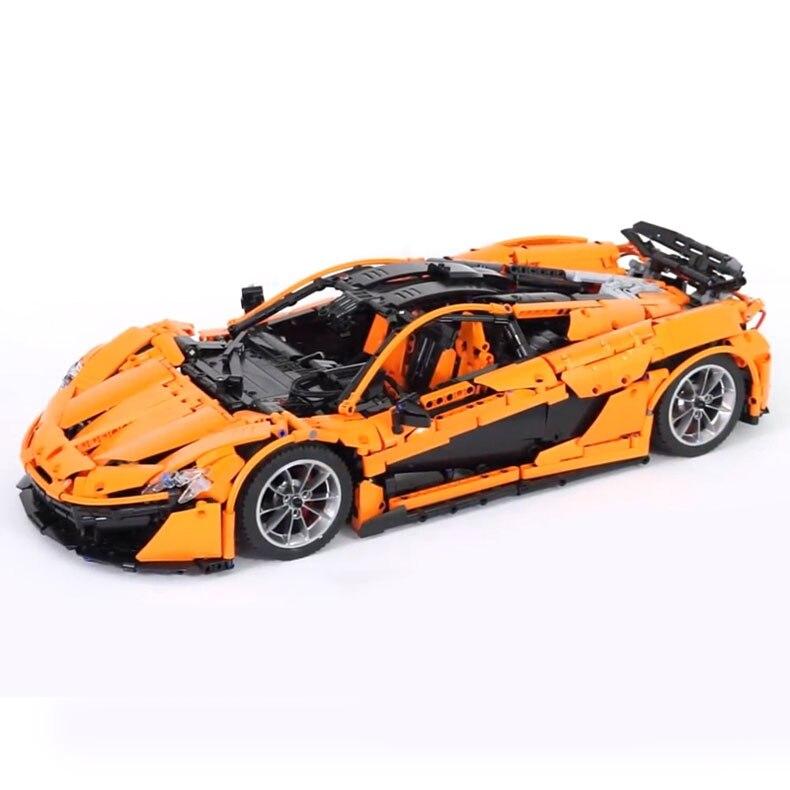 InStock Lepin 20087 Technic Toys The MOC-16915 Arancione Super Auto Da Corsa Set Building Blocks Mattoni Bambini Giocattoli Modello Regalo Di Natale