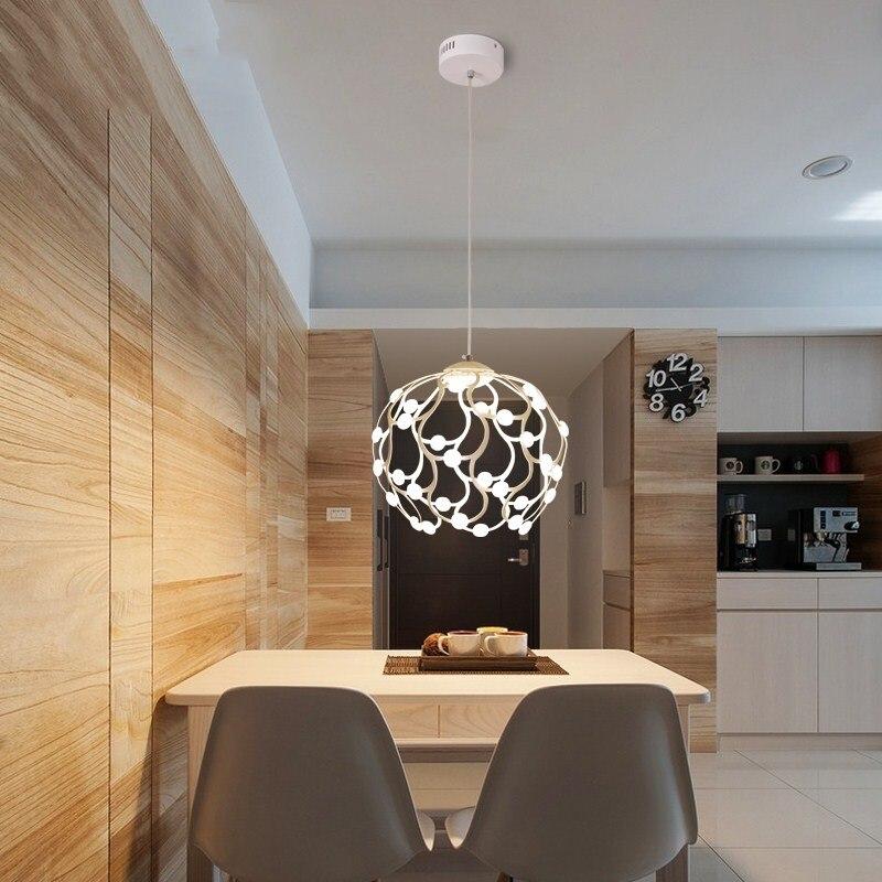 Suspension moderne LED lampe suspendue blanche ronde pour salon cuisine salle à manger luminiare lustre suspension luminaire