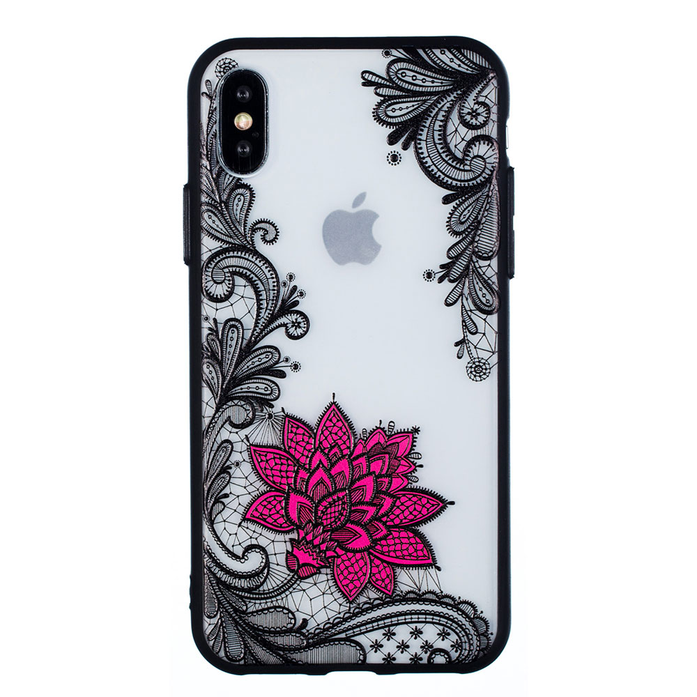 KIPX1059B_1_JONSNOW Phone Case for iPhone 5S 6S 7 8 Plus Emboss Floral Rose Lace Protective Case for iPhone X XR XS Max PC Back Cover