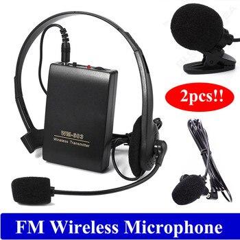 Free shipping!2pcs Wireless Lapel Clip Microphone Hands-free FM Megaphone for Speaker Teacher g6 tactical smartwatch