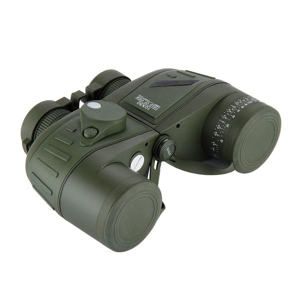 Hot BOSTRON Waterproof 10x50 Marine Hunting Outdoor Binoculars Built-in Rangefinder Compass 10x50 outdoor military binocular army green marine prismatic binoculars hot sale