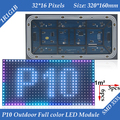 40pcs/lot 5500CD/M2 High brightness P10 Outdoor 1/4scan SMD 3in1 RGB Full Color LED Display Module 320*160mm 32*16 pixels