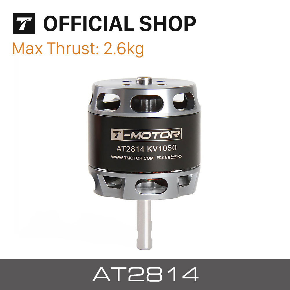 T-MOTOR AT2814 Long Shaft KV900 KV1050 KV1200 brushless motor for long range VTOL fixed wing UAV