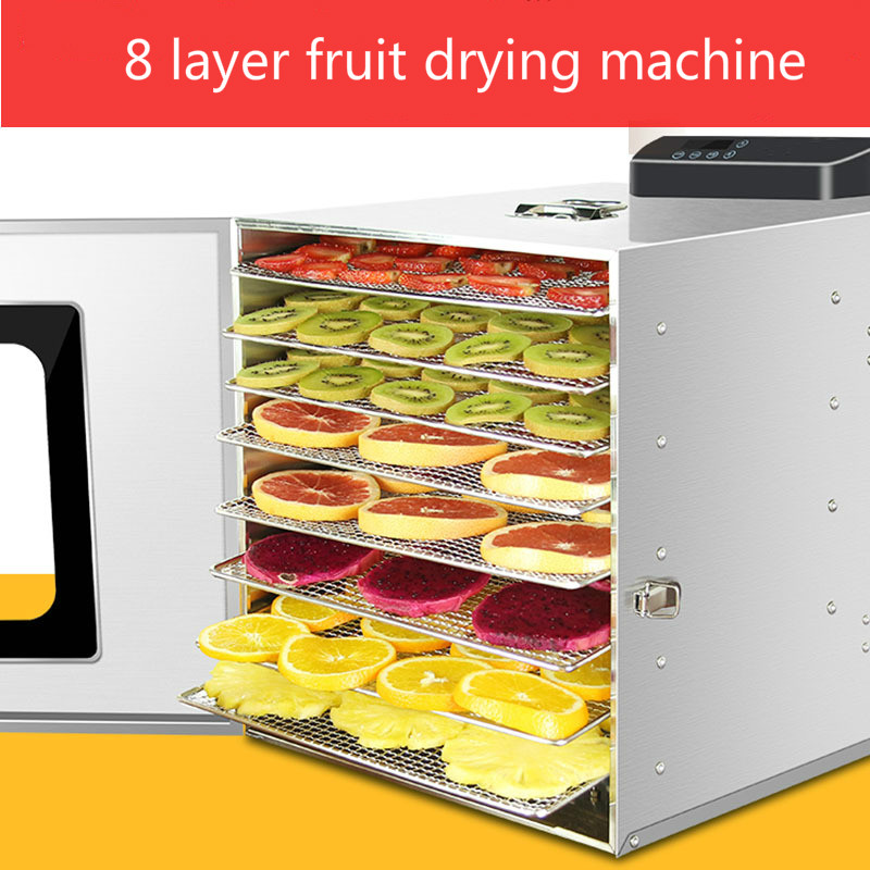 Home Electric 8 Layer Fruit Dryer Food Vegetable Meat Dehydrator Air Drying Machine Large Capacity Fruit Dehydration DeviceHome Electric 8 Layer Fruit Dryer Food Vegetable Meat Dehydrator Air Drying Machine Large Capacity Fruit Dehydration Device