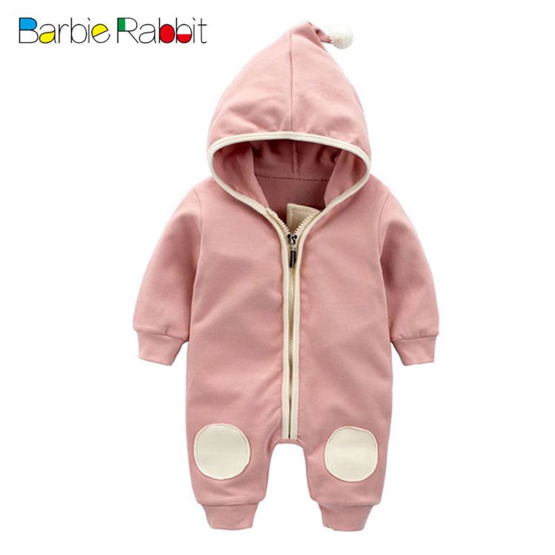 Lovely Long Sleeve Rompers for Newborn Boy Girl Fashion Spring Outerwear Sport Baby Jumpsuit Infant Bebes Hooded Zipper Romper newborn baby rompers baby clothing 100% cotton infant jumpsuit ropa bebe long sleeve girl boys rompers costumes baby romper