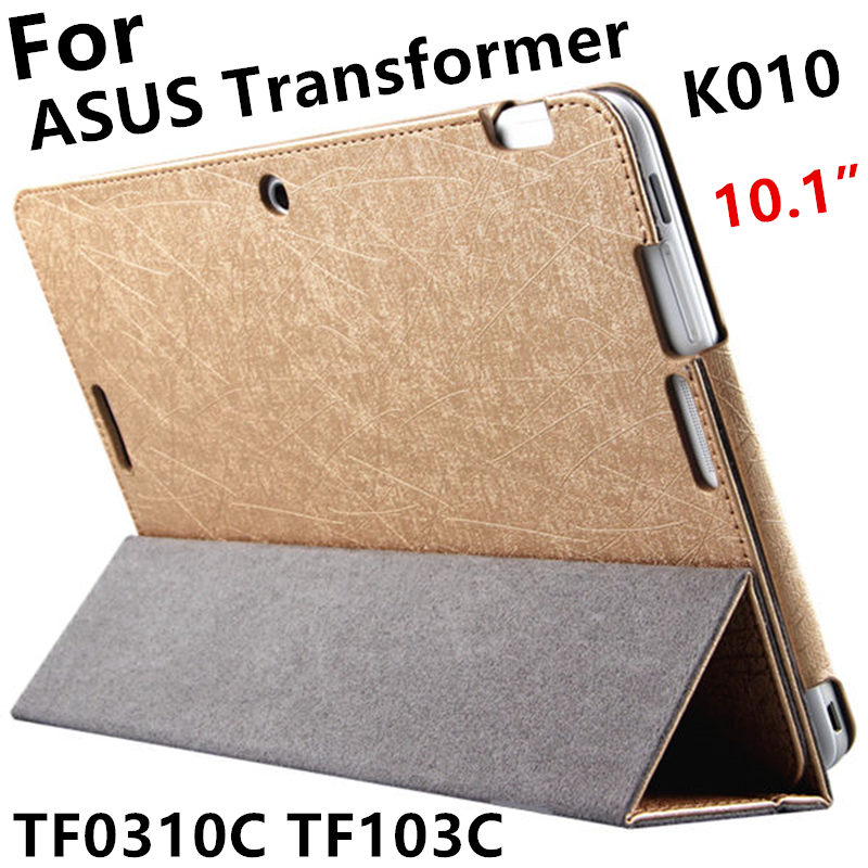 Case For ASUS Transformer Pad TF0310C Protective Smart cover Leather Tablet For TF103C TF103CG K010 10.1inch PU Protector Sleeve 2017 charger data cable beautiful gift new usb3 0 to 40pin for asus eee pad transformer tf101 tablet wholesale price aug25 kxl