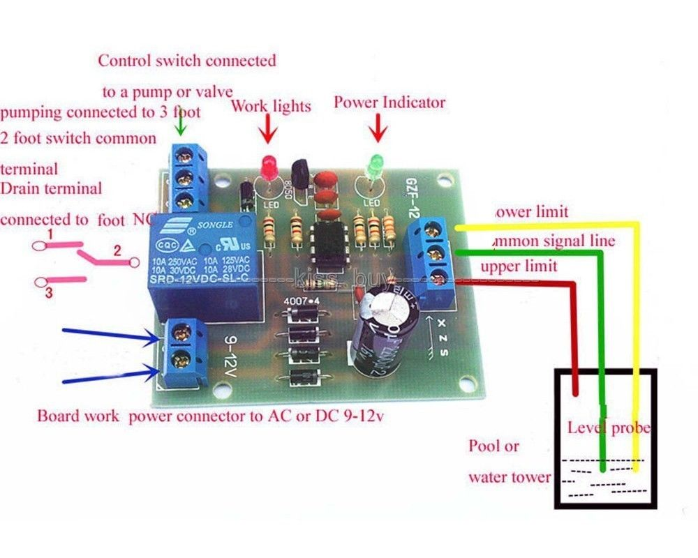 Liquid Level Controller Module Water Detection Sensor Board 9v Switch Circuit Free Tracking Number 12v Ac