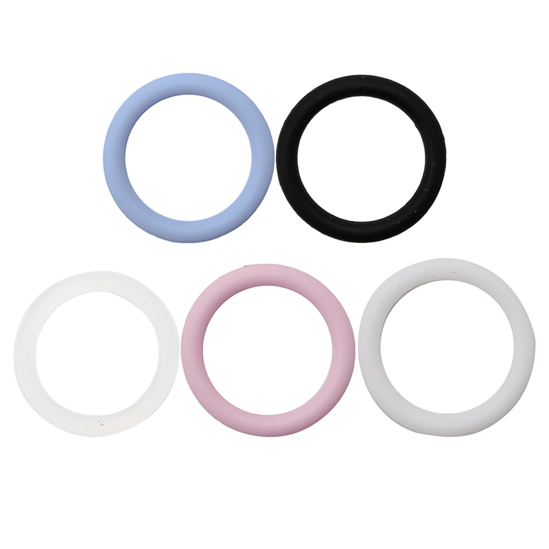 5pcs//Set O-Rings Button Silicone Baby Dummy Pacifier Chain Clips Adapter Holder