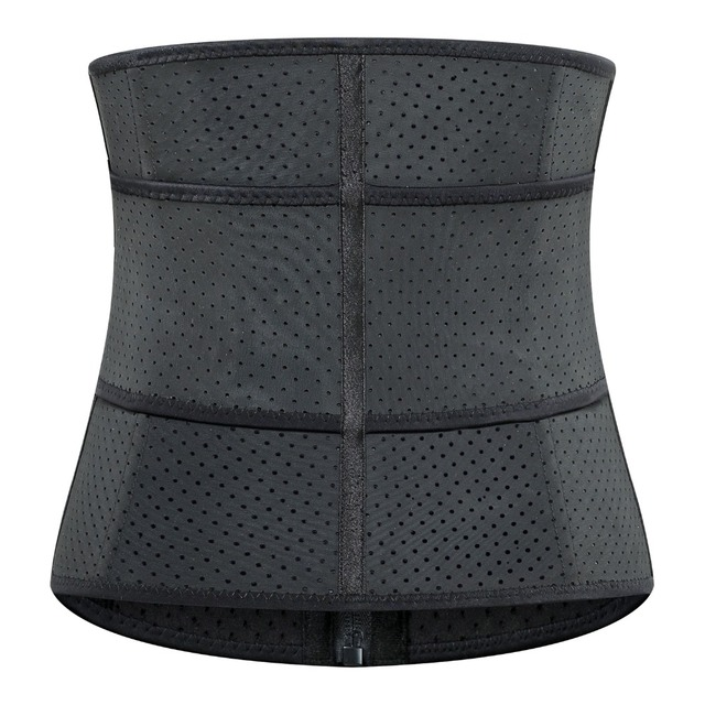 Adjustable Sweat Waist Trainer Abdominal Belt High Compression Zipper Plus Size Latex Waist Cincher Corset Underbust Body Fajas 2