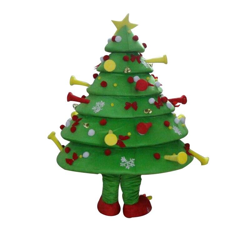 Costumi cosplay Immagini Reali! Deluxe Albero Di Natale Costume Della Mascotte, Costume di natale per Halloween party