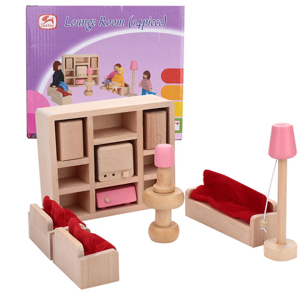Красивый кукольный домик Туалет 1:12 кукольный домик мини мебель для детей Прямая - Цвет: living room