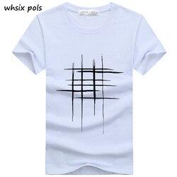 2018 t-shirt الرجال بسيطة الإبداعية تصميم خط الصليب طباعة القطن تي شيرت الرجال جديد وصول الصيف نمط قمصان قصيرة الأكمام تي شيرت