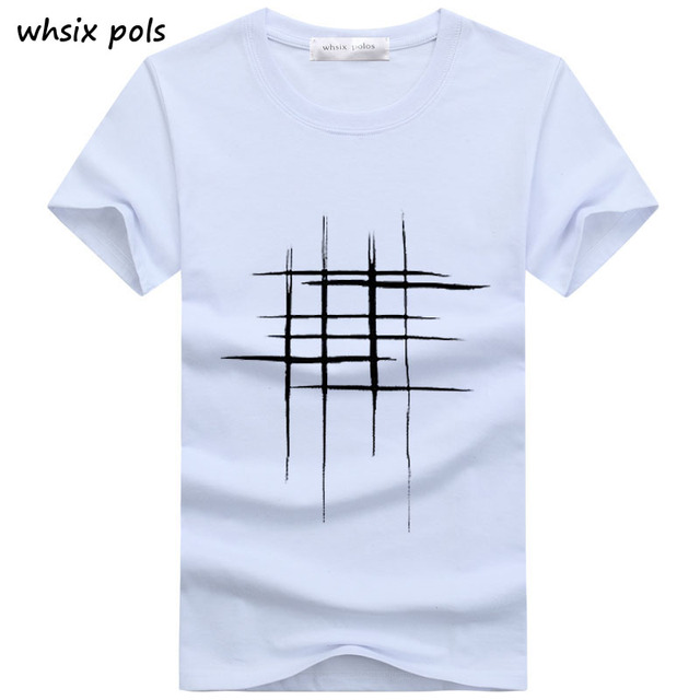 395e56007 2018 t-shirt men Simple creative design line cross Print cotton T Shirts  Men's New Arrival Summer Style Short Sleeve Men t-shirt