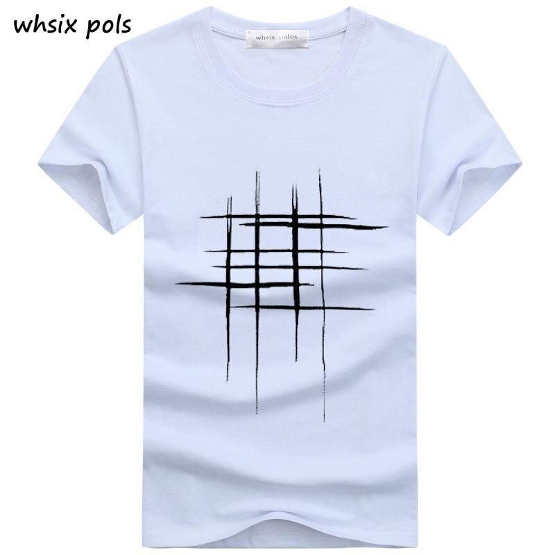 2018 t-shirt uomo Semplice design creativo linea croce Stampa di cotone T-Shirt da Uomo Nuovo Arrivo di Estate di Stile Manica Corta Da Uomo t-shirt