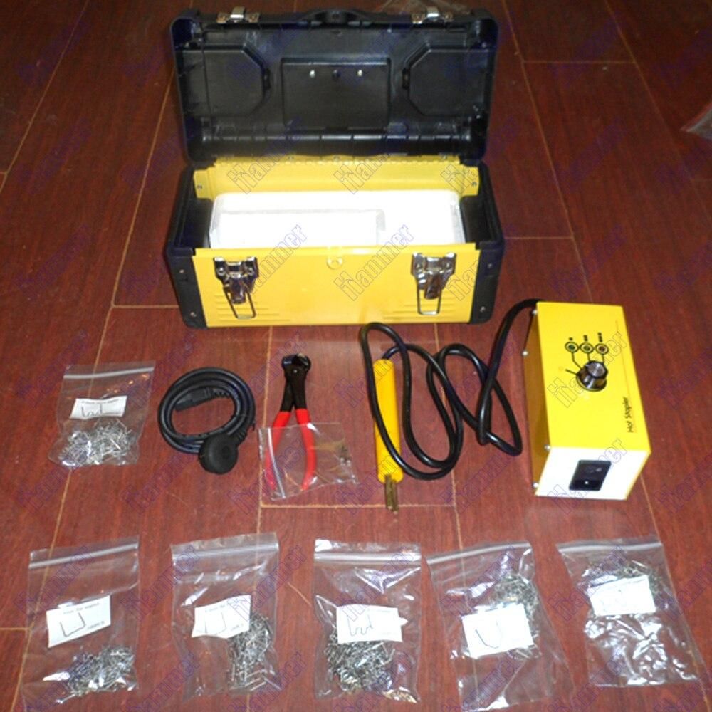 110 В 220 горячей степлер Пластик сварочный аппарат Пластик Ремкомплект Пластик сварщик степлер для двигателя или автомобиля