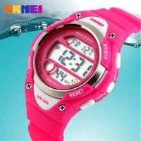 2016 야외 스포츠 어린이 아이 시계 소년 소녀 LED 디지털 알람 스톱워치 방수 손목 시계 어린이 시계