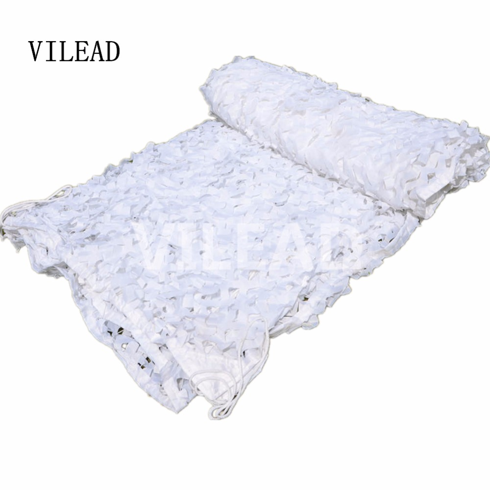 VILEAD 2.5M x 9M (8FT x29.5FT) Snow White Digital Camouflage Net Military Army Camo Netting Sun Shelter for Hunting Camping Tent vilead 7m x 9m 23ft x 29 5ft desert military army camo netting digital camouflage net jungle shelter for hunting camping tent