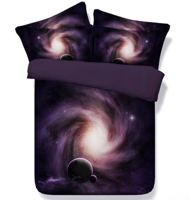 3D Защита от солнца луны и звезд Постельные принадлежности набор детей одеяло пододеяльник кровать в сумке листа покрывала постельное белье...