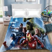 Marvel The Avengers bed Sheet iron Man Captain America Children Room Bed Linen (NO cover pillowcase)