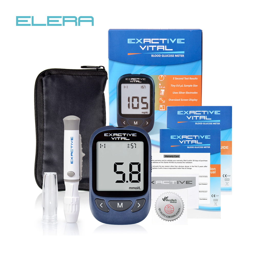MICROTECH MEDICAL CE FDA Certificate Blood Glucose Meters Monitor Diabetics Test Glycuresis Monitor 50 Strips +50 Needles