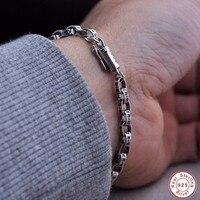 100%925 Silver Bracelet Fashion Jewelry Ancient Maya European Fashion Classic Men's Bracelet 925 man bracelet Men's jewelry gift