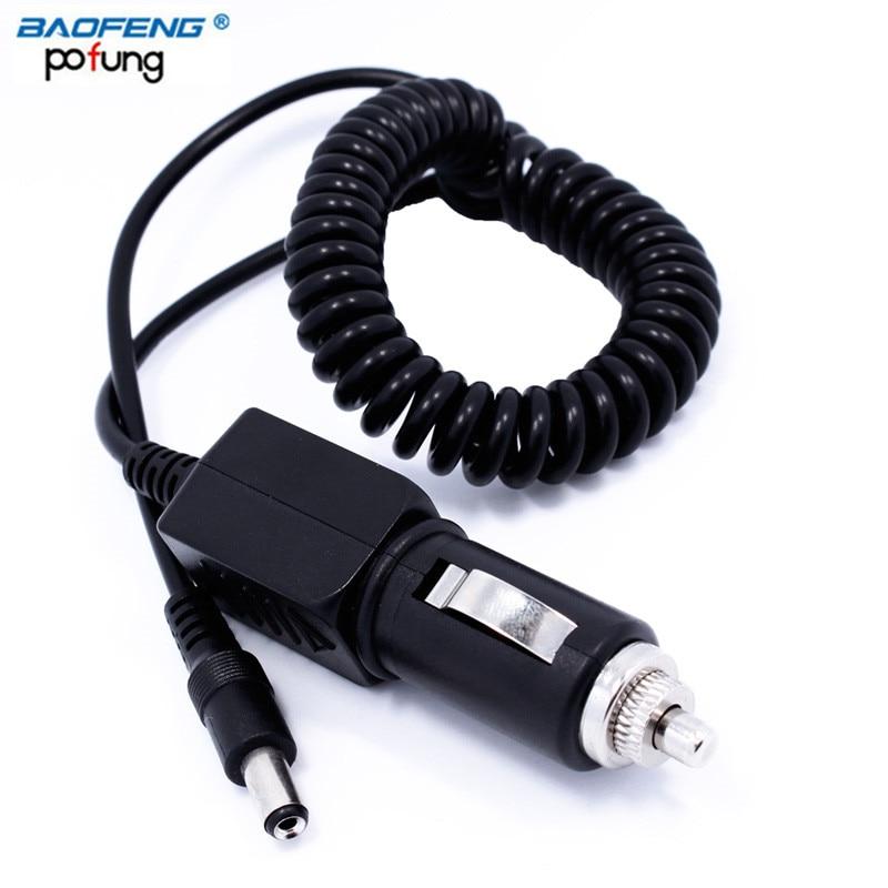 imágenes para Baofeng 10 v salida de línea de cable de cargador de coche para baofeng uv-5r de radio de dos vías uv-82 bf-f8hp gt-3 walkie talkie