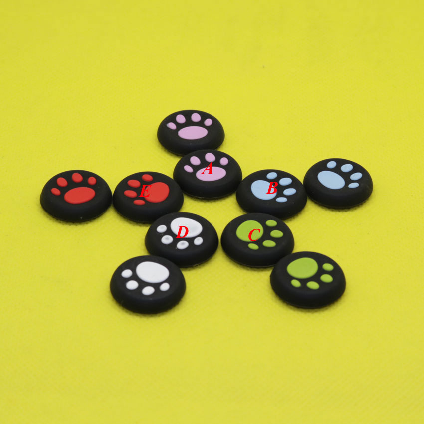 MG99 103  Silicone Thumbstick Grip Cover Caps Cat Paw For PS3 PS4 Xbox One Xbox 360