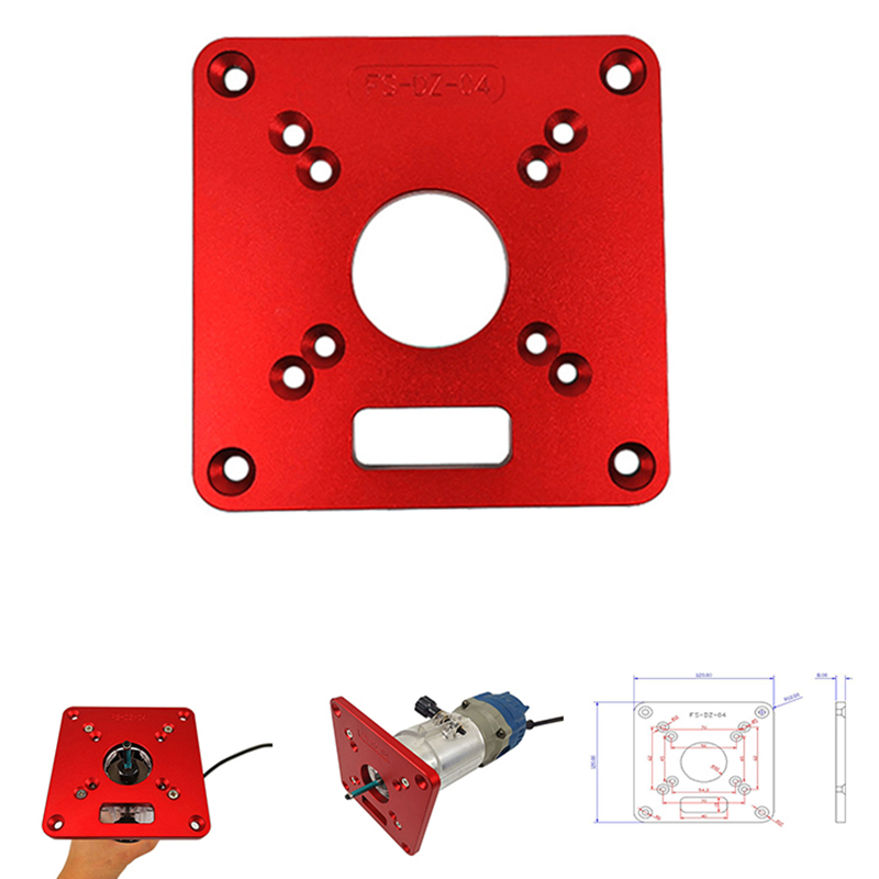 Aluminium Router Table Insert Plate Woodworking Benches Wood Router Trimmer Models Engraving Machine For RT0700C Universal