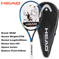 HEAD Professional Tennis Rackets For Men And Women Top Quality Champion Rackets For Tennis Shockproof Man Racquets With Bags