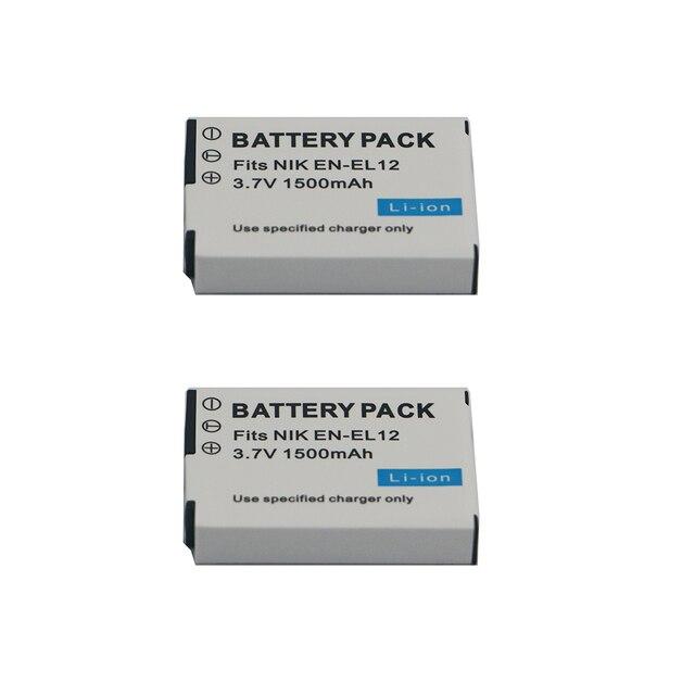 1500mAh EN-EL12 EN EL12 Battery for Nikon CoolPix S610 S610c S620 S630 S710 S1000pj P300 P310 P330 S6200 S6300 S9400 S9500 S9200 3