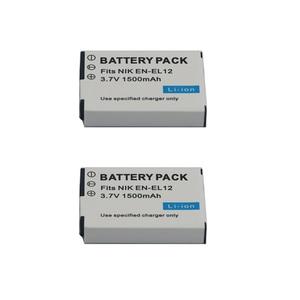 Image 4 - 1500mAh EN EL12 EN EL12 Batterie pour Nikon CoolPix S610 S610c S620 S630 S710 S1000pj P300 P310 P330 S6200 S6300 S9400 S9500 S9200