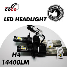 Par de Coches H4 H4-3 HB2 Hi lo Haz LED ETI 9003 Bombillas 14400LM/Set 120 W/Set Blanco Luz de Niebla de la lámpara Del Faro DRL faro