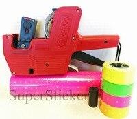 [Fly eagle] MX-5500 8 dígitos preço tag arma labeller mais 5000 etiquetas rosa + dom gratuito