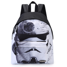 "Star Wars Black Knight Holy White Backpack Student Youth School Backpack Casual Backpack Girl 7-11 ""IPAD Bag w Quality Print"