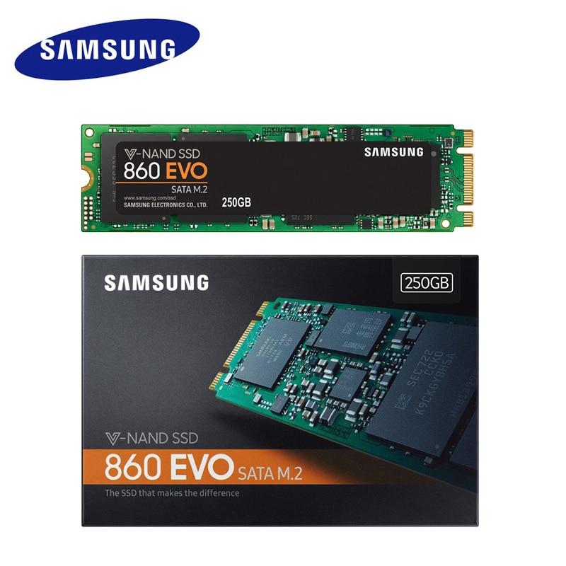 SAMSUNG SSD 860 EVO M.2 2280 SATA 500 gb 250 gb 1 tb Interne Solid State Disk Disque Dur HDD m2 5 ans de garantie MLC PCLe M.2