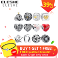 Authentic 925 Sterling Silver European Star Crown Heart Charms Beads Fit Original Pandora Bracelet DIY Jewelry Christmas Gift