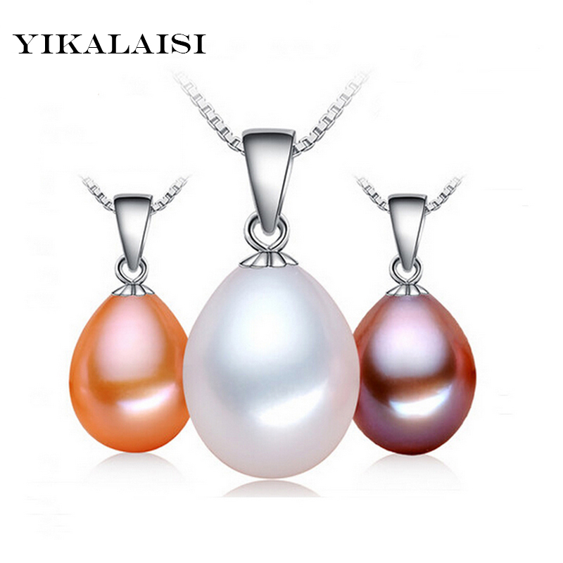 925 Sterling Silver 100% Genuine Pearl Necklace Natural Freshwater Pearl Choker Necklace Charm Pendant Pearl Jewelry For Women