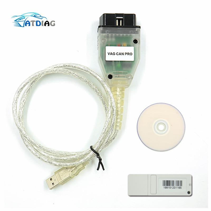 VAG CAN PRO CAN BUS+UDS+K-line S.W Version 5.5.1 VCP Scanner obd 2 car diagnostic scanner tool wallet