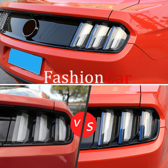 Abs Chrome Rear Tail Light Lamp Cover Trim 2pcs For Ford Mustang 2017 2016