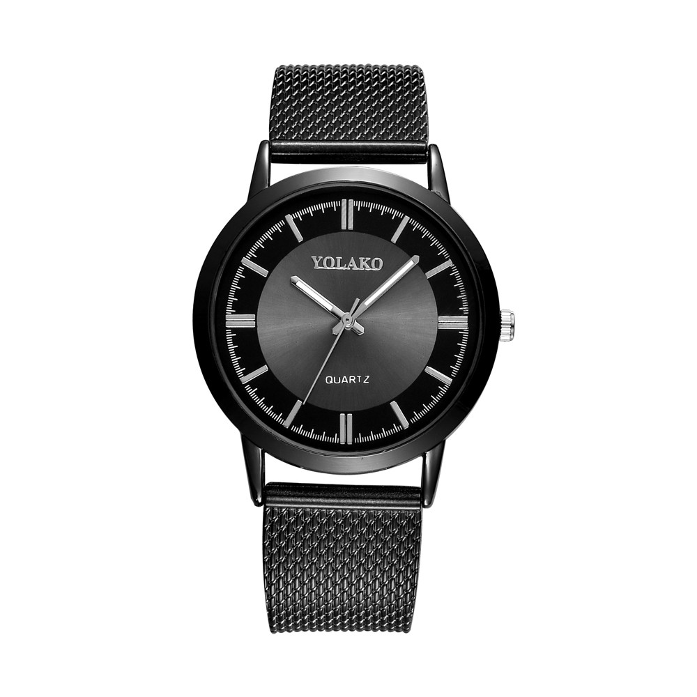 Fashion 2018 Watch quartz-watchHot fashion creative Fashionable High Hardness Glass Mirror Men And Women General Mesh Belt Watch new fashionable men business silver belt gear quartz watch