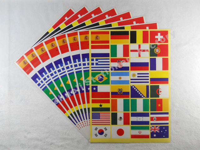 (50 sheets lot ) 2014 The Brazilian World Cup Face Stickers Free Shipping  Fans bee6dec04