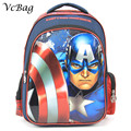 2016 New Kids Cartoon The Avengers Iron Man Schoolbag Lovely Girls Princess Backpack  for Kids Children Back to School Gift Bags