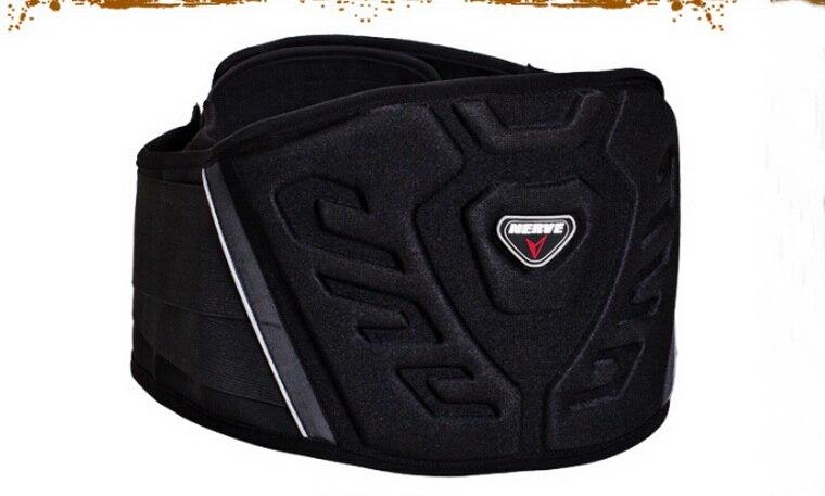 Authentic German NERVE motorcycle belt care kidney gird waist motorbike riding equipment Knight Protector waist Solid-schwarz