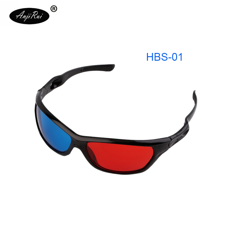 Universal Plasma TV Movie Dimensional Anaglyph 3D Glasses Vision Anaglyph Glasses Red and Blue Glasses 3D Movie Free Shipping