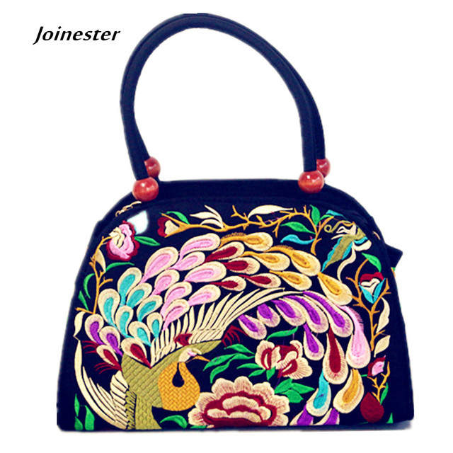 Seashell Shape Versatile Vintage Womens Functional Handbag Classic Embroidery Casual Hand Tote Canvas Shoulder Bag Crossbody