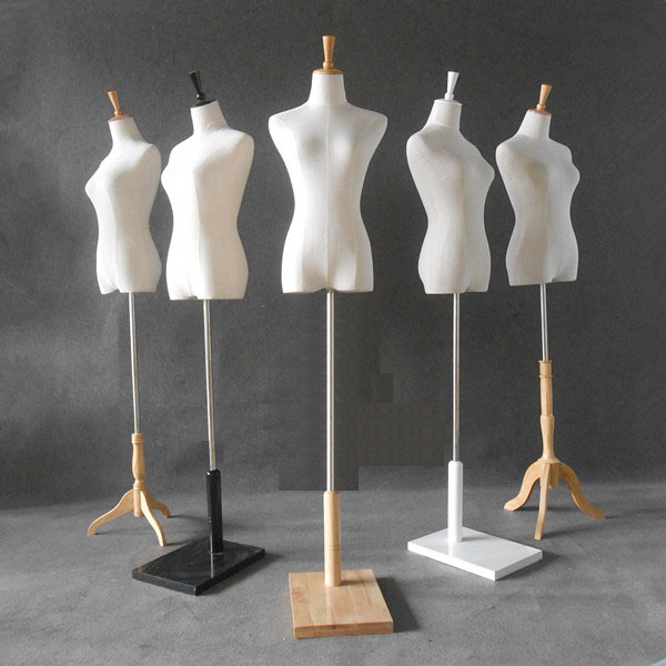 Female Mannequins With Holder For Fashion Dresses Women Upper-Body Linen Cotton Adult Dummy  Cosmetology Window Display Model